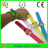 hot fashion silicone kids slap wrist watch for Christmas gift