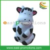 Cute Smiling Black&White Cow Shape PU Stress Toy