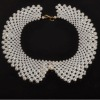 pearl collar fashion pearl collar necklace white