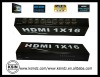 1 INPUT AND 16 OUTPUTS 3D Home theater HDMI Splitter for PC, PS3, DVD, HDTV, or DLP video projector