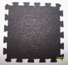 interlocking black rubber floor tile mat