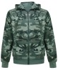 Women's 170G T/C single jersey camouflage coat
