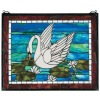 beautiful animal swan glass pattern tiffany panels