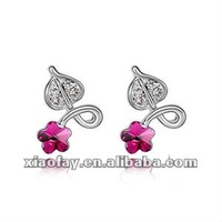 Fashion Jewelry Purple Flowers Earring 2012 Newest Design