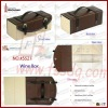 2012 new attractive stylish foldable PU leather wine box for 1 bottle