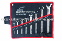 Combination Wrench Set Black Nickel