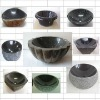Black granite wash basin