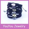 YS860 Wholesale Gold/Gunblack/Rhodium/Silver Buddha Shamballa Bracelet