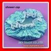 Popular item! blue strip printed lady luxury satin bath shower cap