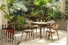 Patio Dining Table Designs Four Chair/ Bamboo Dining Table and Chair