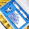 Xmas Gift Pen Set With China Fountain Pen Bookmark and Key Ring