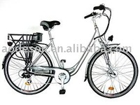 EN15194 Lifep04 lithium electric bicycle with shimano gear Dutch Woman
