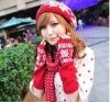 100% acrylic new design knitted jacquard hat scarf glove set