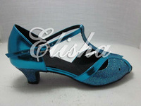 new fashion blue lady latin ballroom salsa chacha waltz dance shoes