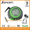 2D motion sensor sport multi-function pedometer with stopwatch &fm radio earphones