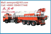 Top Quality Three Axles 20CBM or 20000L Vacuum Suction Tanker Truck Semi Trailers or Semi-trailer Truck With Rear Lip Open
