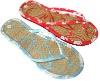 lady straw slipper, EVA flip flop
