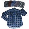 Men's flannel print check shirt usd2.15