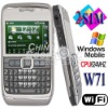 Cell Phone W71 Dual Sim Cards Windows Mobile 6.1 Wifi Java Smart Mobile Phone