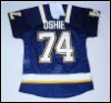 ST.Louis Blues # 74 Oshie blue 3rd jersey