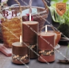 BH070154-155-156 coffee pillar candle birthday candle
