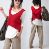 fashion ladies' vest/loose hooded vest