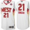 discount jerseys Tim Duncan #21 2009 Western Conference  All Star white