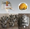 Bush hammer plate with extra big rollers for different bush hammer plate machines