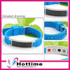 Negative ions bracelet with 316L stainless steel