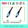 dual molded toslink plug gold plated optical fiber cable