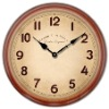 antique poster wall clock