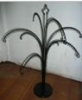 metal tree jewelry display rack holder black