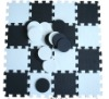 anti-slip black and white floor mat