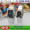 OEM Stainless Steel Pair Couple Watch W09002 with Quartz Movement