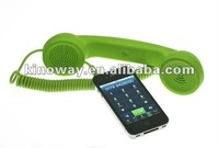 3.5mm mobile phone retro handset, cancel noise and reduce 99% mobile radiation, suitable for most of phones and PC