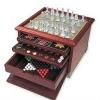 glass chess game set