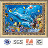 Hot PET 3d photo of sea animal 3d lenticular photo 3d framed photo