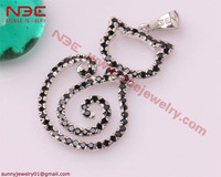 Hot Selling lovely cat 925 sterling silver fashion pendant