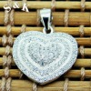 SKP0107-2.9G micro pave heart pendant with cz