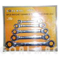 5pcs/set ratchet spanner