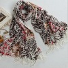 wholesale hot selling fashion leopard tassels scarf