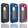 3 layers pc silicon outer box case for iphone 5