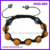Ebay Hot Sell Gold Shamballa Bracelet