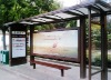 waterproof bus shelter with lightbox