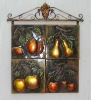 wrought iron wall art,fruit metal decoration,art and craft