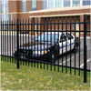 Powder coated steel fence