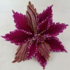 Artificial poinsettia Christmas flowers with clip