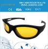 2012 fashionable yellow lens polarized night vision glasses glasses anti-dazzle