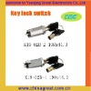 KEY LOCK SWITCH K19-02B-2,K19-02B-4 high qualitykey electrical switch lock
