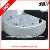 SUN022 1500*1500*600 brass jet whirlpool bathtub with tv